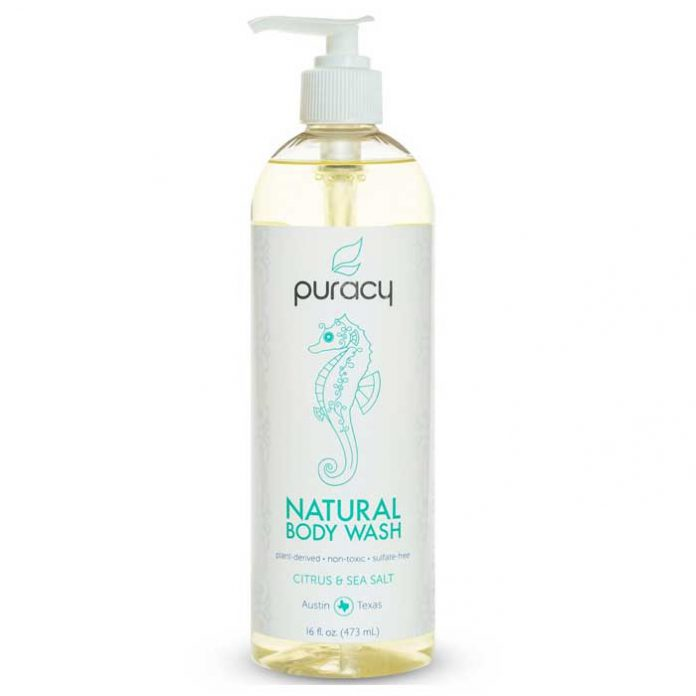 Puracy Natural Body Wash, Citrus and Sea Salt