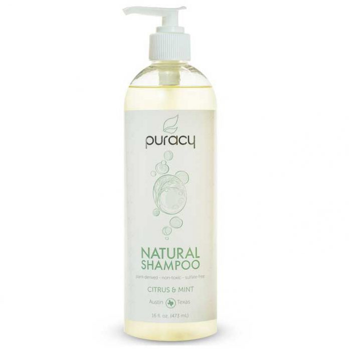 Puracy 100% Natural Shampoo, Citrus/Mint