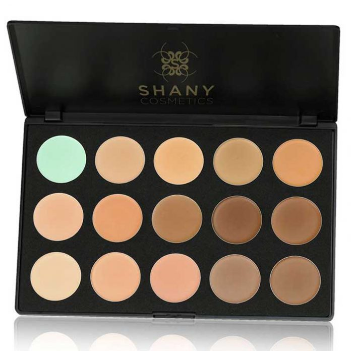 Shiny Cream Foundation and Camouflage Concealer 15 Color Palette