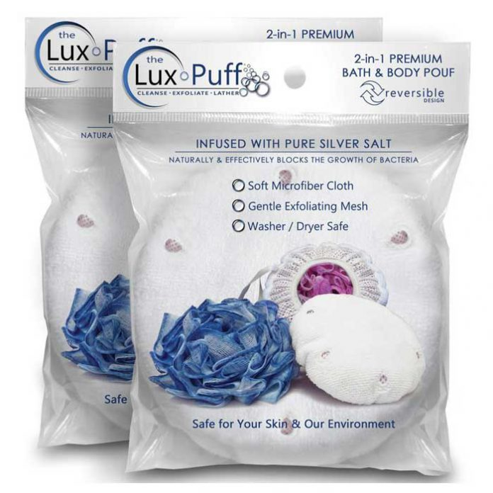 The Lux Puff Anti-Bacterial Microfiber Bath Pouf/Loofah