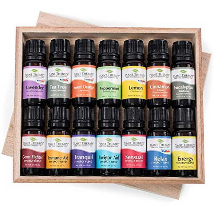 Plant Therapy 14 Essential Oil Set - USDA Certified Organic