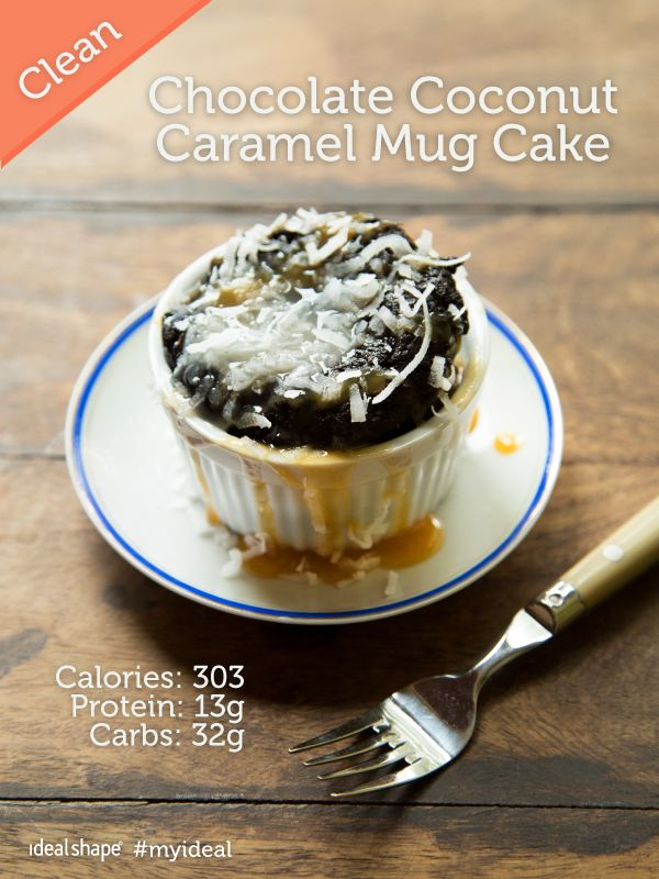 Chocolate Coconut Caramel Mug Cake