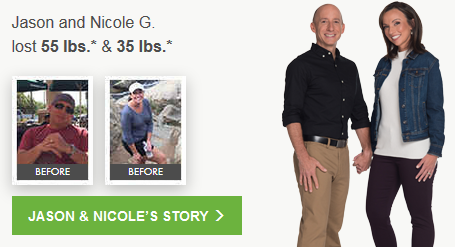 Jason lost 55.0 lbs.* Nicole lost 35.0 lbs.*